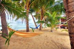 Mening van aardig tropisch leeg zand Stock Afbeeldingen