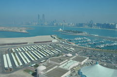 Mening van Abu Dhabi, Verenigde Arabische Emiraten Stock Fotografie