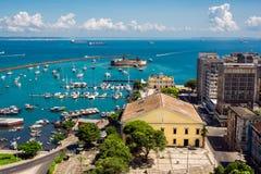 Mening van Al Heiligenbaai in Salvador, Bahia, Brazilië stock afbeelding