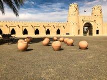 Mening van Al Jahili Fort in Al Ain, de V.A.E stock afbeelding