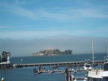 Mening van Alcatraz-Eiland van de Kust Royalty-vrije Stock Afbeelding