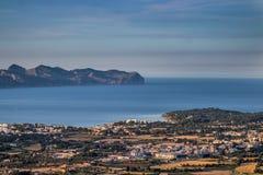 Mening van alcudia Mallorca royalty-vrije stock foto's