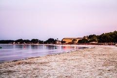 Mening van alcudia Mallorca Strand in Mallorca stock foto