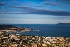 Mening van alcudia Mallorca Strand in Mallorca royalty-vrije stock afbeeldingen