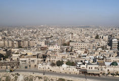 Mening van aleppo in Syrië Stock Afbeelding