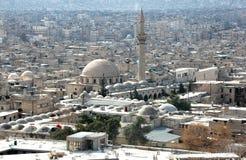 Mening van Aleppo van de citadel Stock Afbeelding