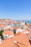 Mening van Alfama, Lissabon, Portugal Royalty-vrije Stock Afbeeldingen