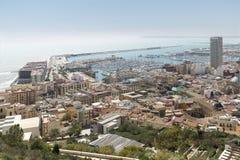 Mening van Alicante in Spanje royalty-vrije stock afbeelding