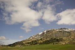 Mening van Alp Flix royalty-vrije stock fotografie