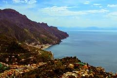 Mening van Amalfi kust Stock Afbeelding
