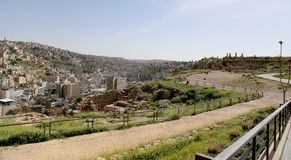 Mening van Amman horizon, Jordanië Royalty-vrije Stock Afbeelding
