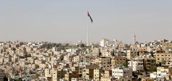 Mening van Amman horizon, Jordanië Stock Foto's