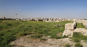 Mening van Amman horizon, Jordanië Stock Afbeeldingen