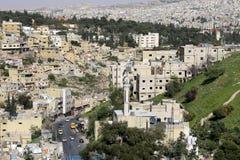 Mening van Amman horizon, Jordanië Royalty-vrije Stock Foto