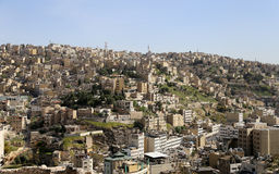 Mening van Amman horizon, Jordanië Royalty-vrije Stock Foto's