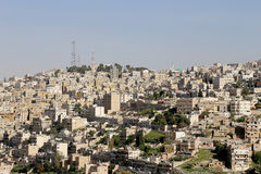 Mening van Amman horizon, Jordanië Royalty-vrije Stock Fotografie