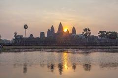 Mening van Angkor, Siem Riep, Kambodja Stock Fotografie