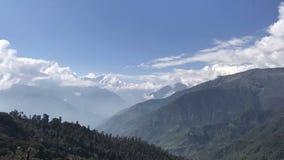 mening van Annapurna, Himalayagebergte stock footage