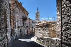 Mening van Assisi. Umbrië. stock fotografie