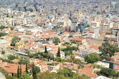 Mening van Athene, Griekenland Stock Afbeeldingen