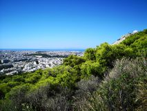 Mening van Athene van Lycabettus-heuvel Royalty-vrije Stock Foto's