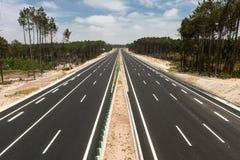 Mening van autosnelweg Royalty-vrije Stock Afbeeldingen