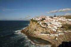 Mening van Azenhas do Mar, Portugal. Stock Fotografie