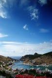 Mening van baai Balaklava stock foto's