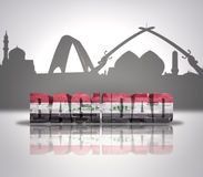Mening van Bagdad stock fotografie