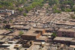Mening van Bamako de stad stock foto