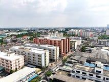 Mening van Bangkok Bangkae Royalty-vrije Stock Afbeelding