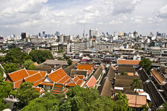 Mening van Bangkok stad Stock Foto