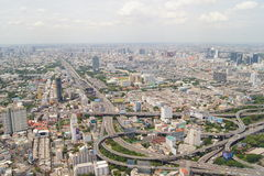 Mening van Bangkok van de tachtig-vierde verdieping stock afbeelding