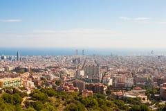 Mening van Barcelona Stock Afbeeldingen