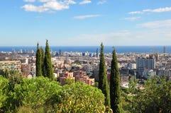 Mening van Barcelona Stock Fotografie