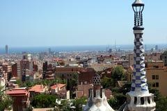 Mening van Barcelona Royalty-vrije Stock Foto's