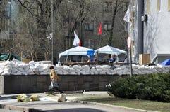 Mening van barricades Stock Afbeelding