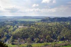 Mening van Bastei, Duitsland Stock Foto