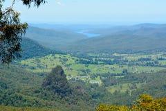 Mening van Bellbird-Vooruitzicht in het Nationale Park van Lamington, Australië stock afbeelding
