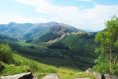 Mening van Ben Nevis Mountain Trail stock foto