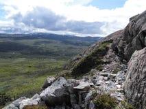 Mening van berg Atoklinten in Hemavan, het Noorden van Zweden, Scandinavië Royalty-vrije Stock Afbeeldingen