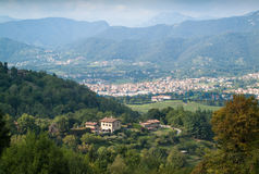 Mening van Bergamo Royalty-vrije Stock Afbeeldingen