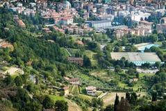Mening van Bergamo Stock Foto's