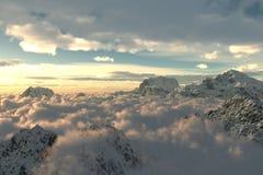 Mening van bergen royalty-vrije stock foto's