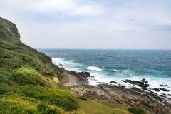 Mening van bergen en aard op de oostkust van Taiwan Royalty-vrije Stock Foto's