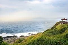 Mening van bergen en aard op de oostkust van Taiwan Royalty-vrije Stock Foto