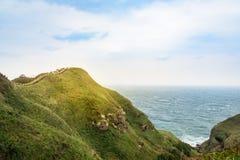 Mening van bergen en aard op de oostkust van Taiwan Stock Afbeelding