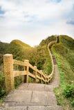 Mening van bergen en aard op de oostkust van Taiwan Stock Foto's