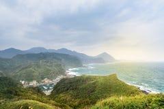 Mening van bergen en aard op de oostkust van Taiwan Stock Fotografie