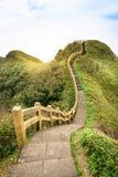 Mening van bergen en aard op de oostkust van Taiwan Royalty-vrije Stock Afbeeldingen